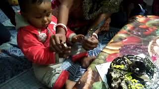 One year complete and birthday cake cutting funny moments l amazing Raj