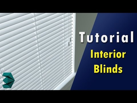 3ds Max Tutorial - Interior Blinds