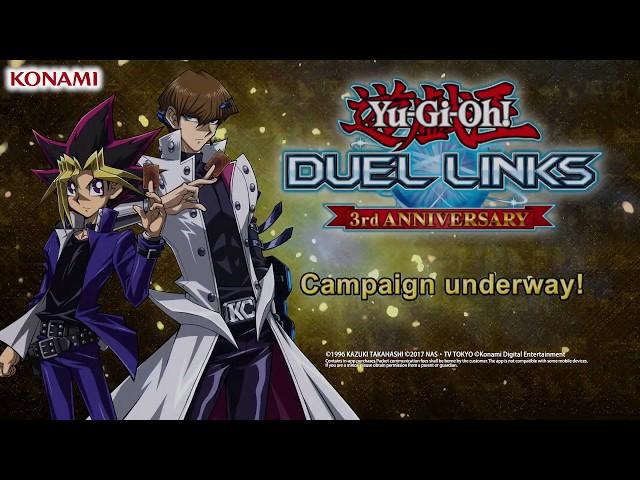 Yu-Gi-Oh! Duel Links | Third Anniversary Celebration English Trailer! Begins Jan 12th 9am JST!