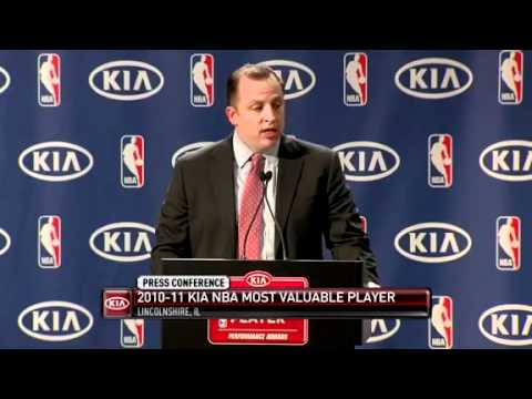 Derrick Rose awarded most valuable player MVP 2011