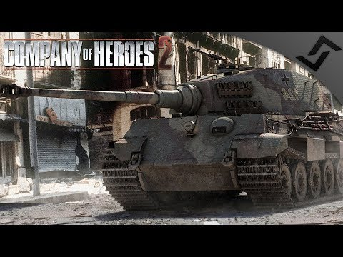 King Tiger Defends Berlin 1945 - Wikinger Realism Mod - Company of Heroes 2