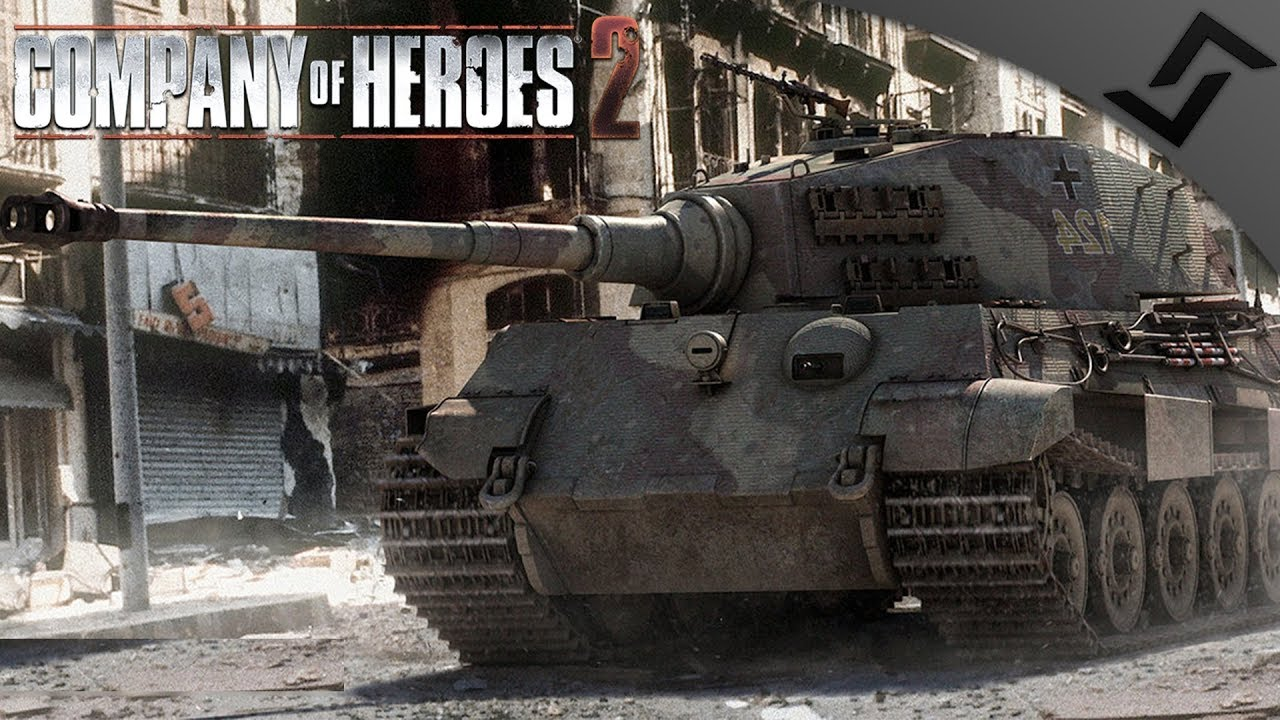 King Tiger Defends Berlin 1945 Wikinger Realism Mod Company Of Heroes 2 Youtube