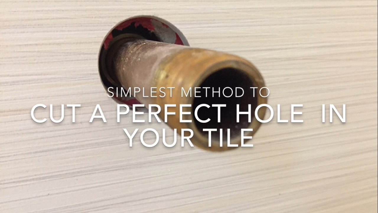 How To Cut Circle In Tile For Tub And Shower Plumbing YouTube - Cutting holes in tile for plumbing