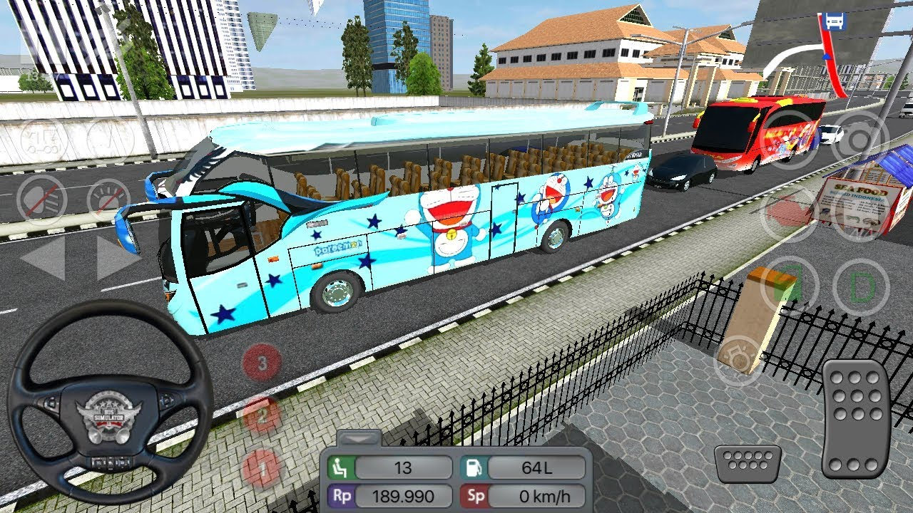 Bus Simulator Indonesia Doraemon Skin Livery Bussid Android Gameplay Game Video Hd
