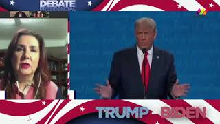 Último debate entre Trump vs Biden en TV Mexiquense, México.