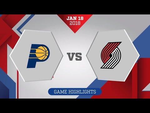 Indiana Pacers vs. Portland Trail Blazers - January 18, 2018