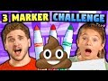 KIDS vs ADULTS - 3 MARKER CHALLENGE!