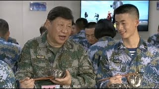 Xi Reviews Training of Carrier Borne Fighter Jets