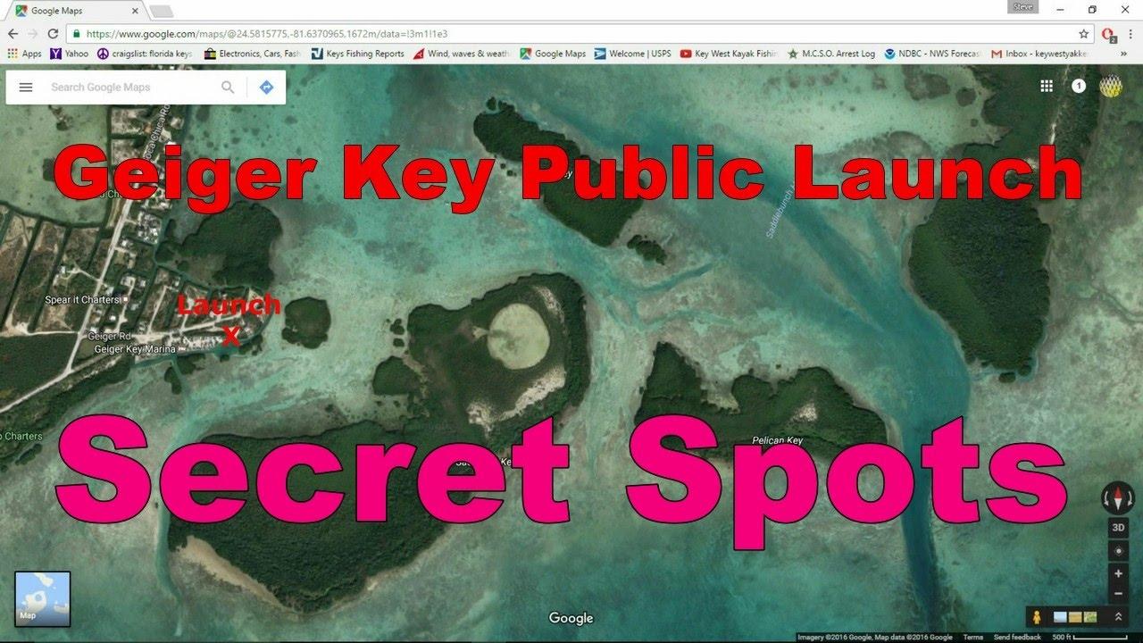 Florida Keys Kayak Fishing Tips Geiger Key Fishing Spots YouTube - Florida keys map art