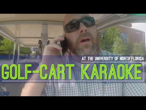 Golf-cart karaoke: Academic Center for Excellence