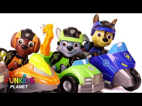 Thumbnail: Learn Colors Videos: Paw Patrol Chase, Skye & Pups Car Race Rainbow Colored Orbeez