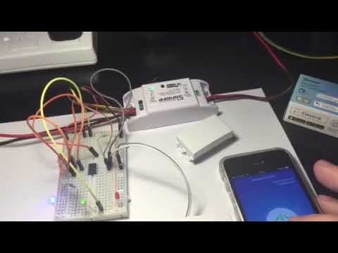 Sonoff hack / mod for touch control using blind faceplates