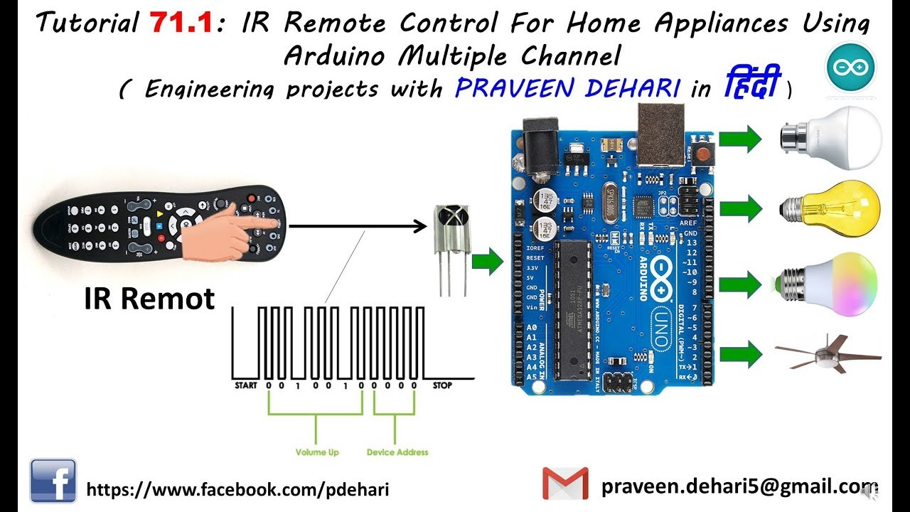 IR Remote Control For Home Appliances Using Arduino Multiple Channel :  Tutorial 71 1