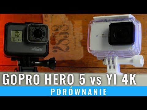 Xiaomi YI Action 4K vs GoPro Hero 5 black - porównanie, recenzja PL