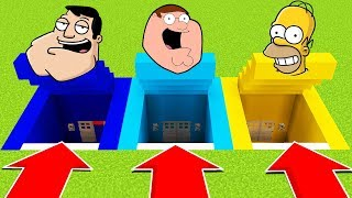 DO NOT CHOOSE THE WRONG SECRET BASE (SIMPSONS,FAMILY GUY, AMERICAN DAD) Xbox360/PS4/XboxOne/PE/MCPE)