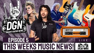 DGN Guitar News #5 - NEW Fender Player Plus, NEW Orange Amps, Miley Cyrus With Metallica & More!