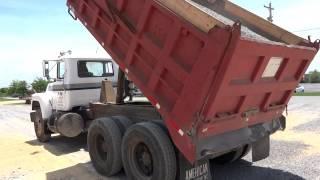 Mack Dump Truck Spreading Gravel 2