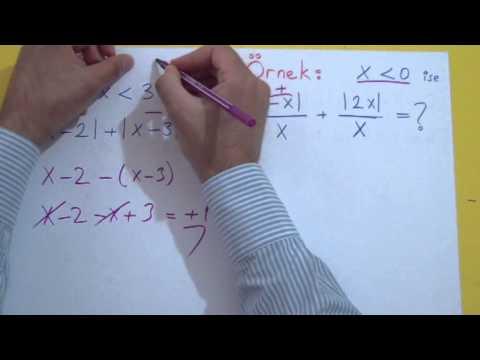 Mutlak Değer 1 Şenol Hoca Matematik