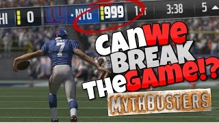 WHAT HAPPENS IF YOU EXCEED THE SCORE LIMIT IN MADDEN 17?? Madden Mythbusters Ep.2