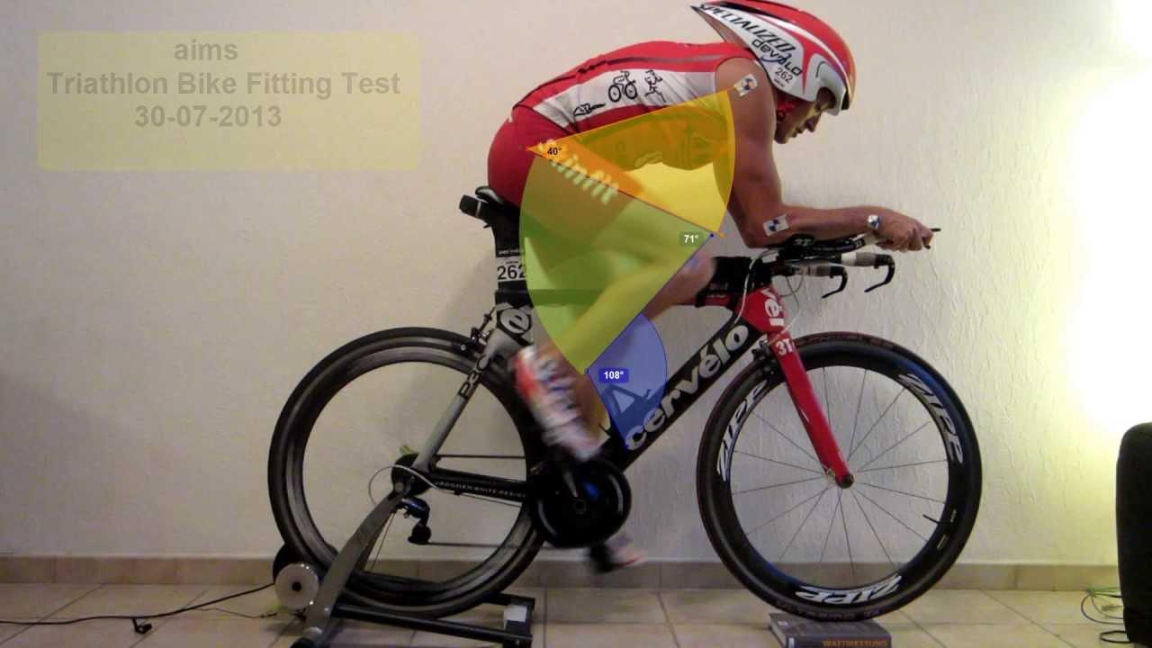 Aims Triathlon Bike Fitting Test 1 Sitzpositionsanalyse