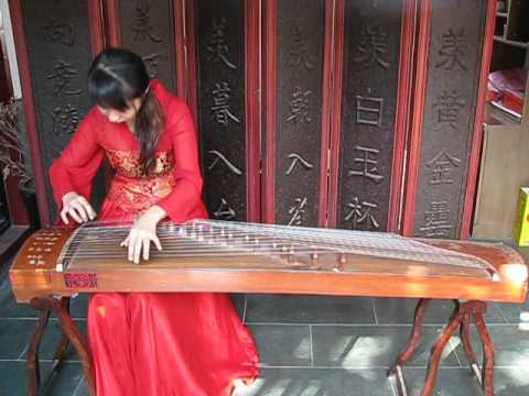zheng traditional chinese musical instrument live demo
