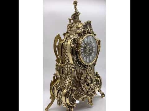 Итальянские каминные часы из латуни Stilars