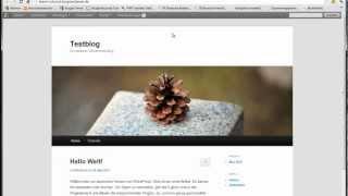 Wordpress Tutorial Deutsch - Dashboard und Anmeldung