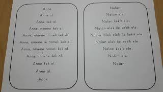 1. Sınıf Hızlı Okuma Metinleri 1 ( e, l, a, k, i, n)