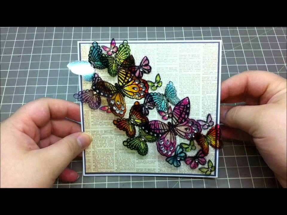 Card Making Ideas Using Acetate Part - 47: Acetate Butterfly Card