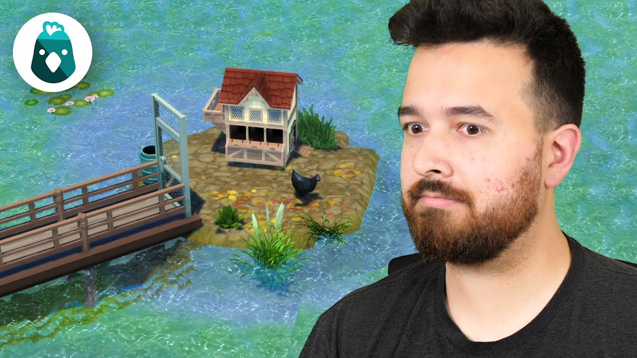 I made an island to contain my EVIL chicken! The Sims 4 Cottage Living (Part 15)