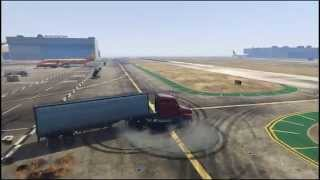 GTA 5 - Semi truck and trailer drifting thumbnail