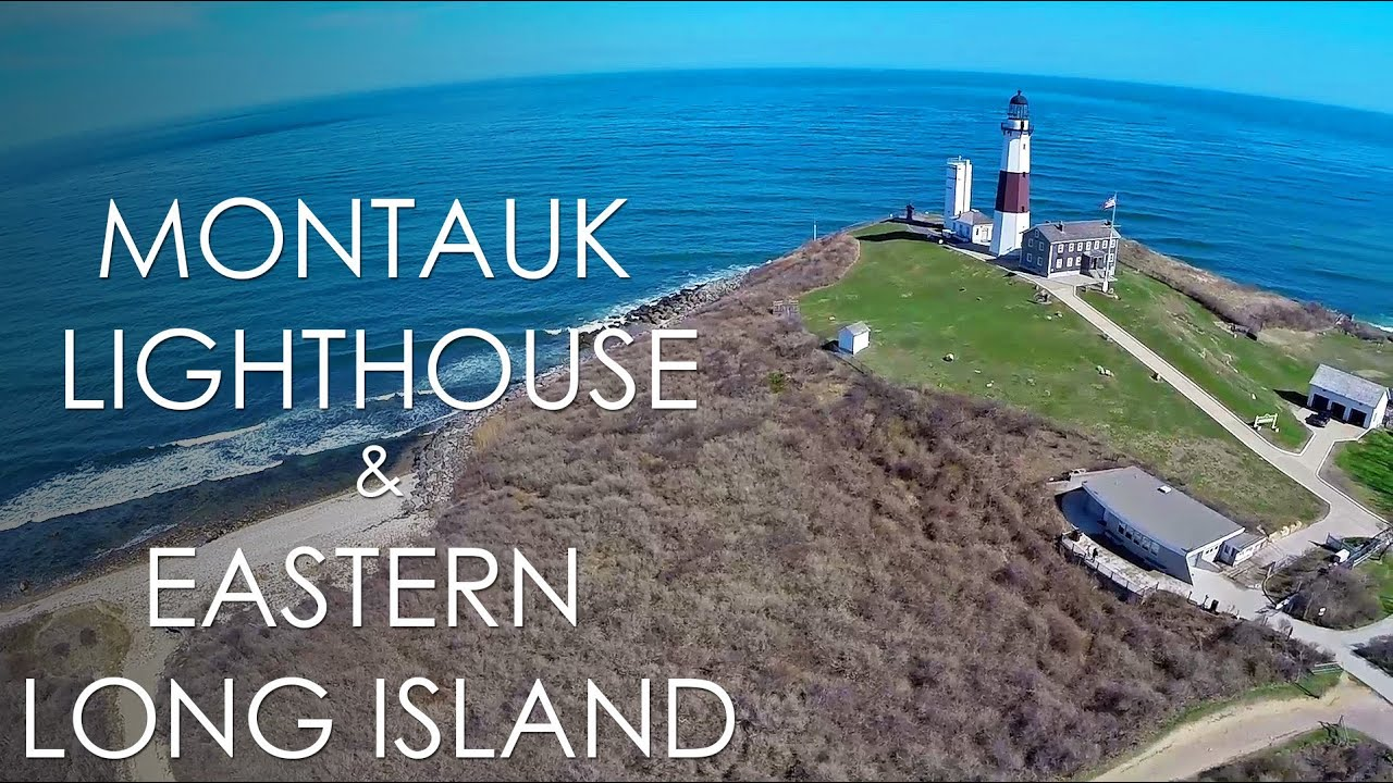 Couchtisch Long Island Montauk Lighthouse & Eastern Long Island - Aerial, Dji
