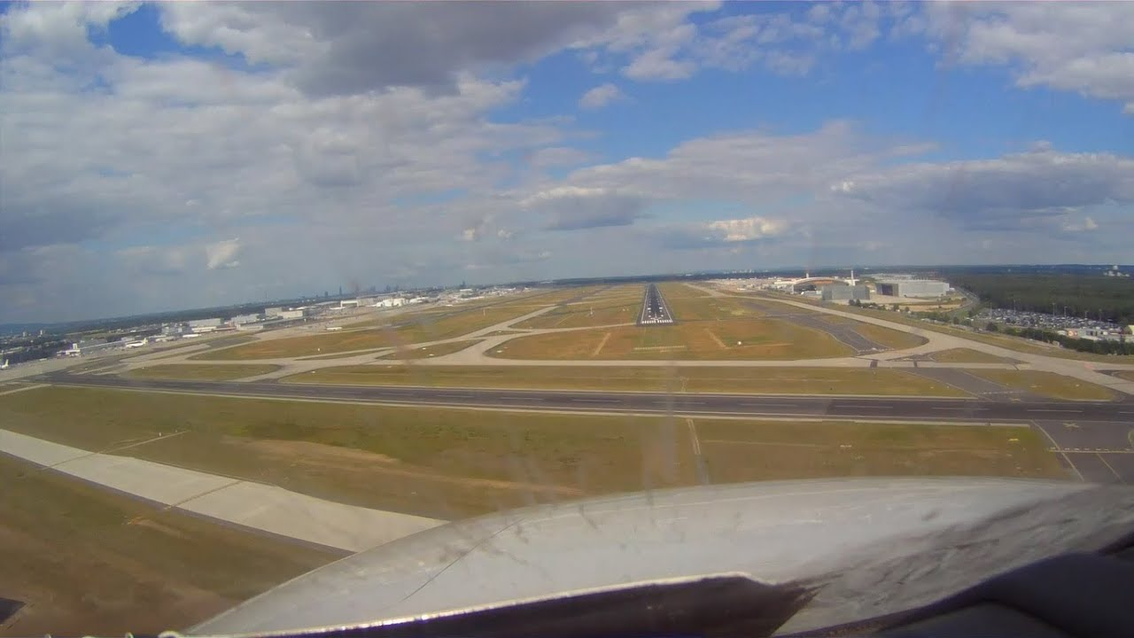 Flughafen Frankfurt Landung