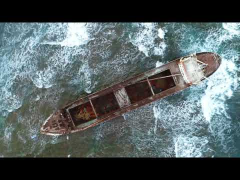 4k Shipwreck of MV Demetrios II near the coast of Cyprus filmed with Phantom 4 Pro