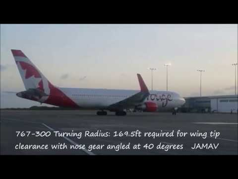 Boeing 767-300ER  Non-Standard Taxi From Gate (Kingston)