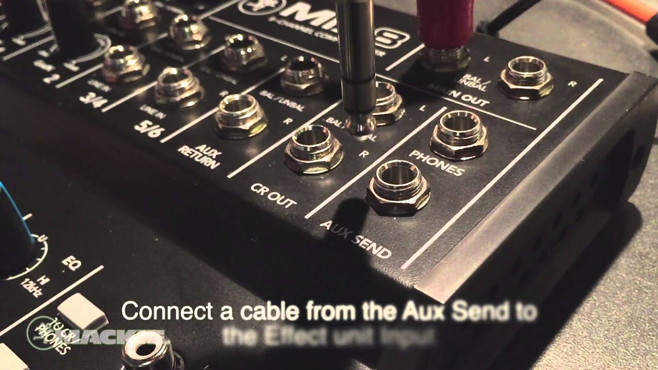 Mackie Mix8 Aux Send And Return Effects Youtube Fender Telecaster Wiring Diagram 3 Way