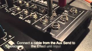 Mackie Mix8 - Aux send and return effects