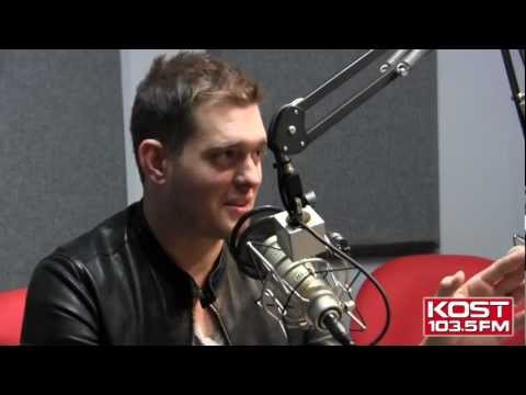 MICHAEL BUBLE talks about Lu and the baby on KOST 103.5- Part 1 (w/ Subtitles)