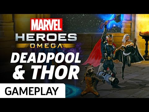 Marvel Heroes Omega – PS4 Deadpool and Thor Gameplay