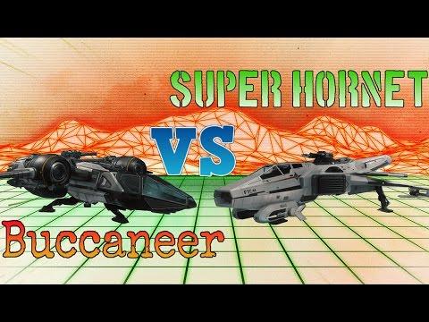 Star Citizen | Drake Buccaneer vs Anvil Super Hornet