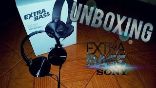 unboxing y review en espaol auriculares sony extra bass   mdr xb450ap