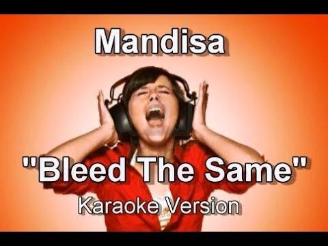 """Mandisa """"Bleed The Same"""" BackDrop Christian Karaoke"""