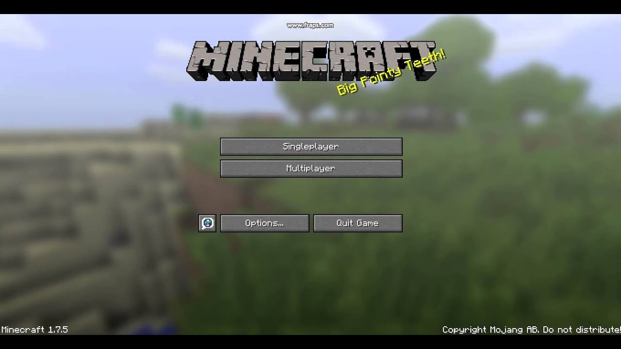 Easter Egg - Minecraft Main Menu - YouTube