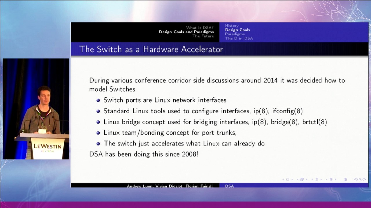 Netdev 2 1 - Distributed Switch Architecture By Andrew Lunn, Vivien  Didelot, Florian Fainelli