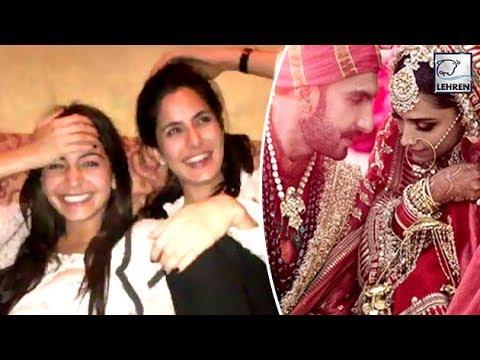 Katrina, Anushka And Ranbir's Reaction On Deepika And Ranveer's Wedding | LehrenTV