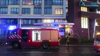 Appartementen ontruimd bij woningbrand Assen