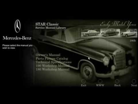 mercedes benz star classic service manual library volume 2 - youtube
