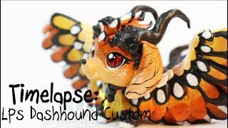 LPS Timelapse: Monarch Inspired Dashhound Custom - Handpainted By HelloStudios (read Description)