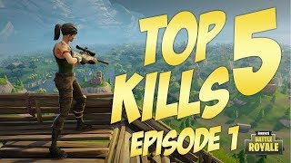 Top 5 The Best Kills in Fortnite : Battle Royale (2018) #420