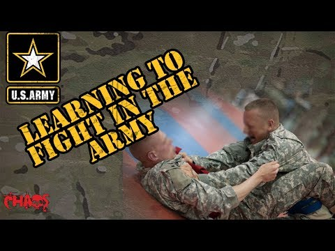 Learning Combatives In The Army